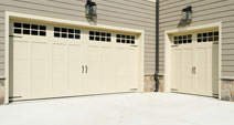 Two garage doors in Rockland County